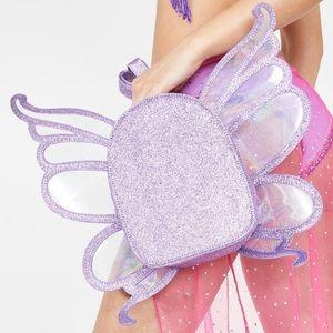 🦋 Purple Glitter Butterfly Backpack